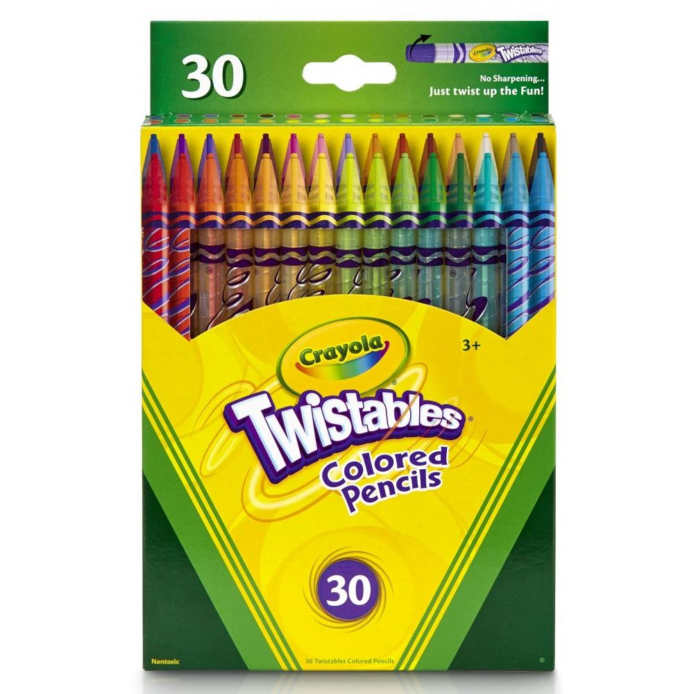 Crayola Twistables Colored Pencils, 30-Count
