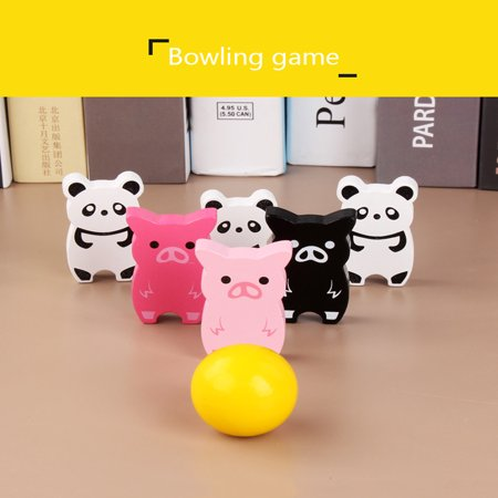 Wooden Balance Game Animal Stacking Blocks Baby Toddler Blocks For - Wooden Animals