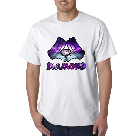 - 024 - Unisex T-Shirt Diamond Rock Galaxy Hands Holding