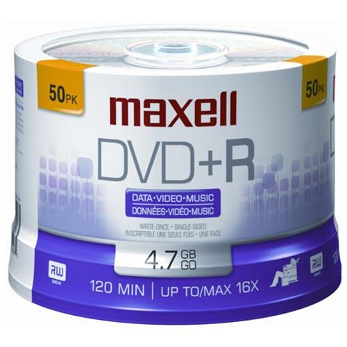 Maxell 16x Dvd r Media - 4.7gb - 50 Pack (MAX639013)