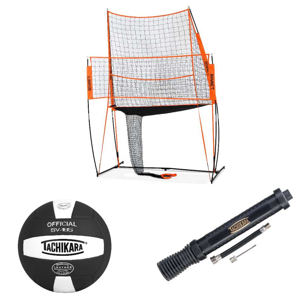 Bownet Volleyball Practice Station with Volleyball and Pump by Bownet