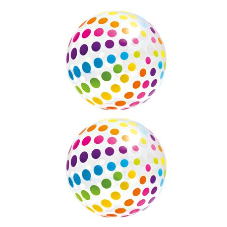 Intex Jumbo Inflatable Big Panel Colorful Giant Beach Ball (Set of 2) |