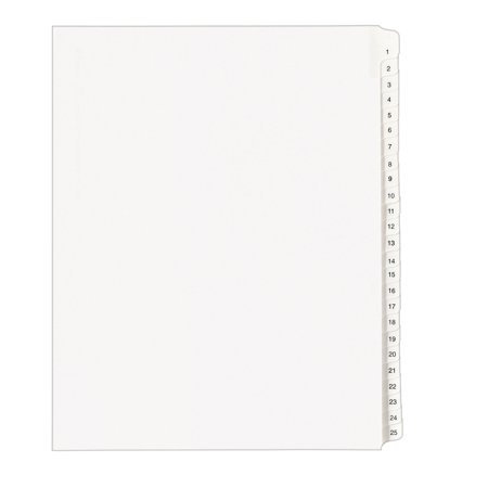 Avery Collated Legal Dividers Allstate, Letter Size, Tabs 1-25, White, 1 Set (Allstate Style Collated Dividers)