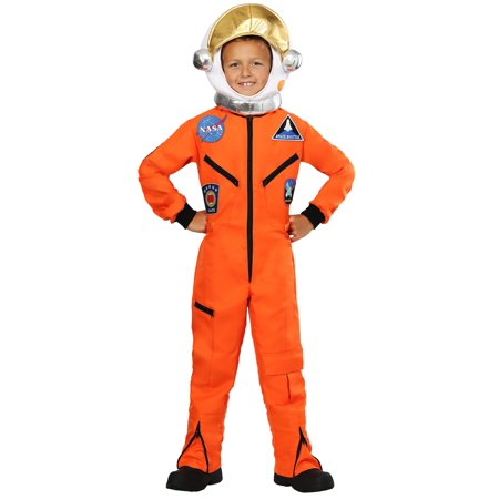 Child Orange Astronaut Jumpsuit - Kids Orange Jumpsuit Costume