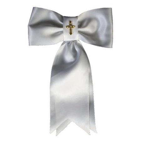 Boys White Gold Cross First Communion Arm Band](First Communion Gift Ideas Boy)