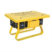 Voltec 09-0T376 T-Slot Temporary Power Box With 3 GFCI - 50 AMP, Yellow, Case Of 1