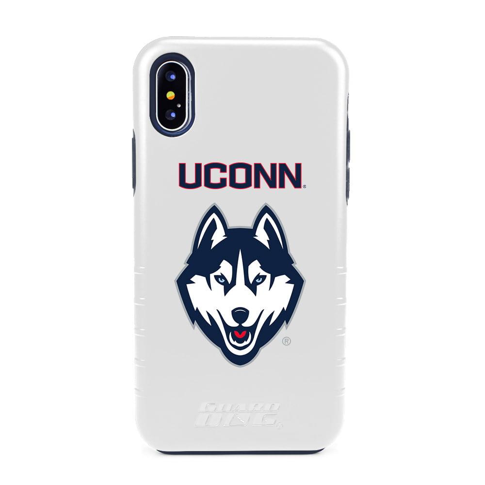 UConn Huskies Hybrid Case for iPhone X / Xs - White
