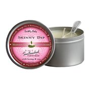 Earthly Body 3 In 1 Massage Heart Candle - Skinny Dip, 6.0 oz.