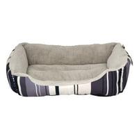 ASPCA Striped Cuddler Pet Dog Bed, Medium, Gray