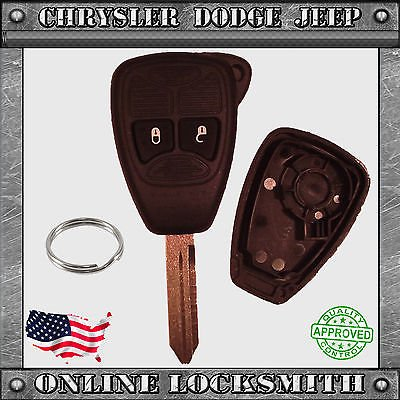 New Remote Key Replacement Case Shell 2 Button Chrysler Dodge Jeep (South County Chrysler Jeep Dodge Gilroy Ca)