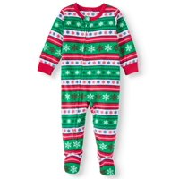Matching Family Christmas Pajamas Baby Boy or Girl Unisex Llama Union Suit Microfleece Blanket Sleeper