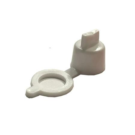 Clipsandfasteners Inc 50 Grease Fitting Caps White Polyethylene ()