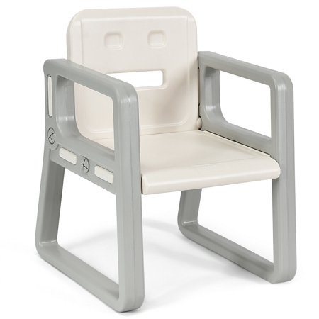 Gymax Kids Table and 2 Chairs Set Toddler Table w/ Storage Shelf For Baby Gift White - image 9 de 10