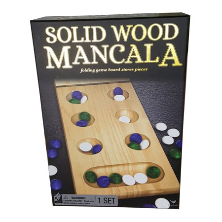 Mancala Game Set - Wood Folding Mancala