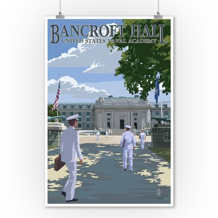 Bancroft Hall - United States Naval Academy - Annapolis, Maryland - Lantern Press Poster (9x12 Art Print, Wall Decor Travel Poster)