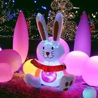 4ft Height Inflatable Happy Easter Bunny