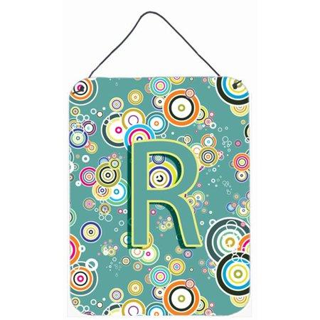Carolines Treasures CJ2015-RDS1216 Letter R Circle Circle Teal Initial Alphabet Wall and Door Hanging Prints - image 1 de 1