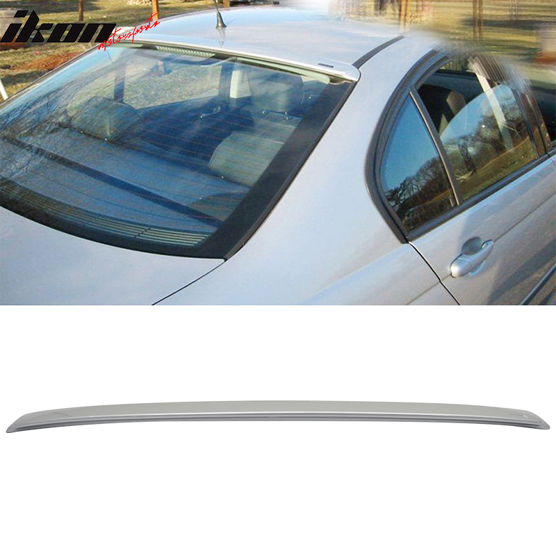 Fits 06-11 BMW 3 Series E90 Sedan 4Dr ABS Rear Roof Spoiler