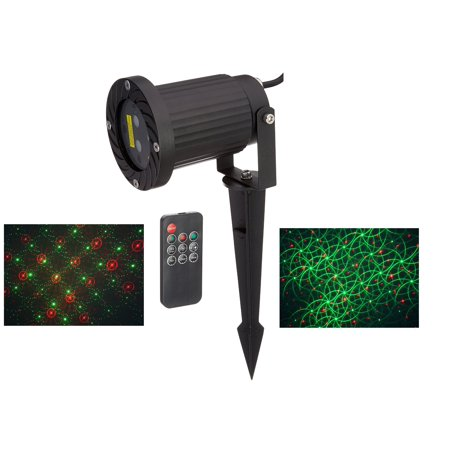 - Remote Controllable 12 patterns in 1 Firefly Moving Laser Christmas Lights with Green and Red Lasers By Ledmall