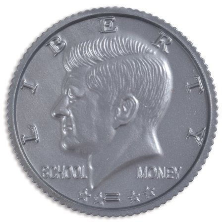 Learning Advantage Play Half-Dollar Plastic Coins - Set of 50