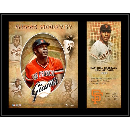 Hall Of Fame Plaque - Willie McCovey San Francisco Giants 12