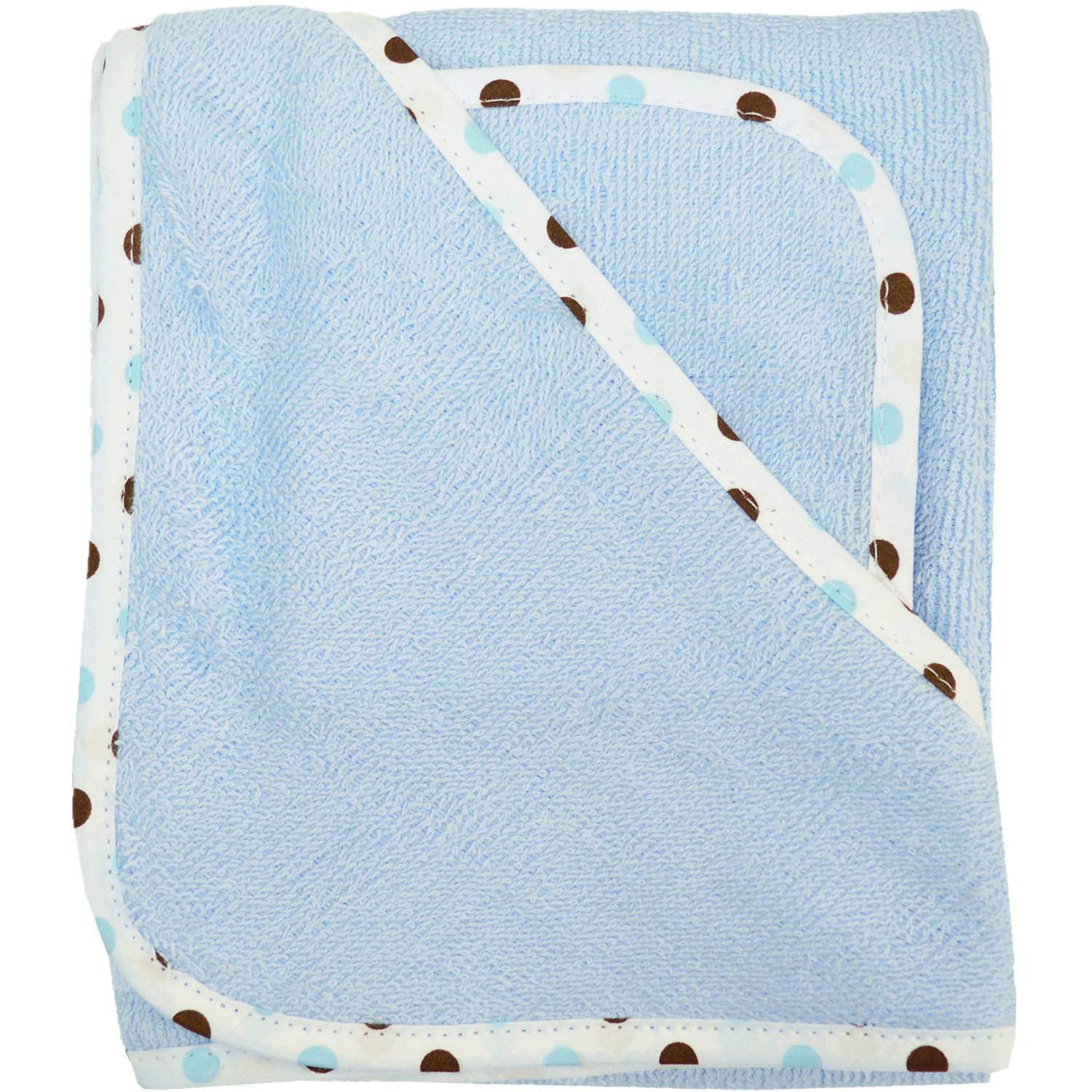 TL Care Terry Hooded Towel Set Made with Organic Cotton, Blue