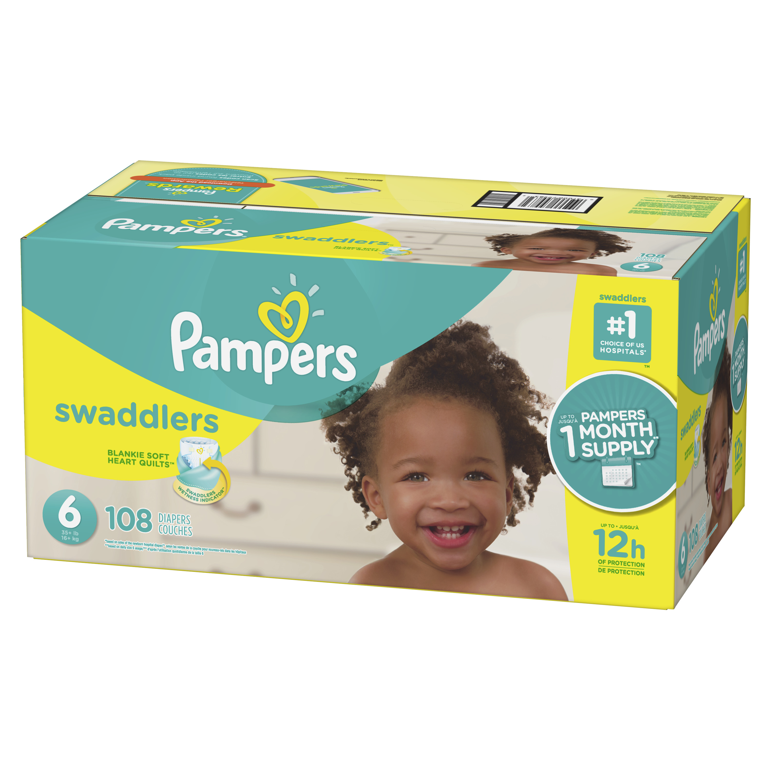 Pampers Swaddlers Diapers Size 6 108 Count