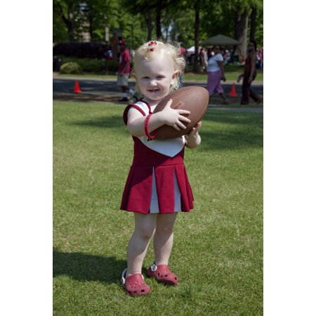 Kaitlyn E Pesto Is All Dressed Up For Her Visit To The Alabama A Day Game Tuscaloosa Alabama Poster Print By Carol Highsmith