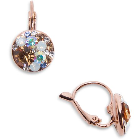 Multicolored Crystal Dangle Earrings made from Swarovski Elements