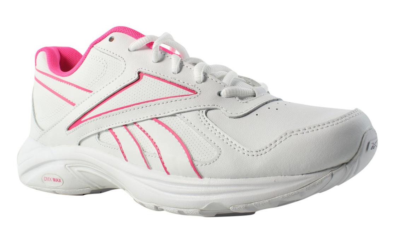 New Reebok Womens Walk Ultra V Dmx Max Pr-White SolarPink Walking Shoes Size 8 by Reebok