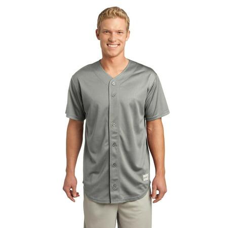 0ea194c93 Sport-Tek ST220 Baseball Shirt Unisex Adult PosiCharge Tough Mesh  Full-Button Jersey - Walmart.com