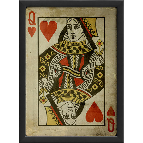 The Artwork Factory Queen of Hearts Framed Graphic Art