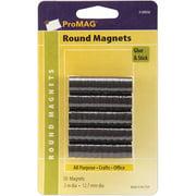 """ProMag Round Magnets, 1/2"""", 50/pkg"""
