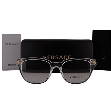 62e8ae2f60 Versace VE3242 Eyeglasses 52-18-140 Crystal w Clear Lens 148 VE 3242 -  Walmart.com