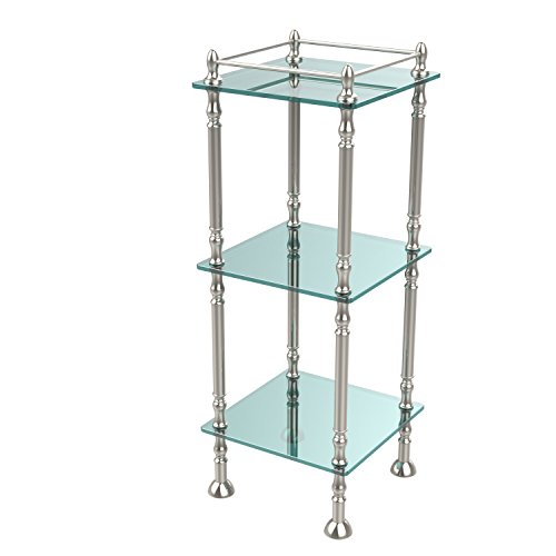 Allld|#Allied Brass ET-14X143TGL-PNI Three Tier Etagere with 14 Inch x 14 Inch Shelves, by Allied Brass Mfg.