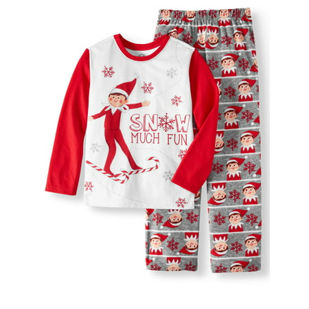 Elf on the Shelf Boys' Christmas 2-Piece Pajama Sleep Set (Elf On The Shelf Adult)