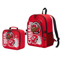 """NFL Kansas City Chiefs """"Accelerator"""" Backpack and Lunch Kit Set"""