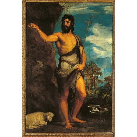 St John The Baptist Canvas Art - (24 x 36)