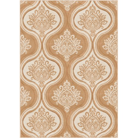 Bolla Damask Modern Moroccan Lattice Trellis Hand Carved Oriental Area Rug  Easy to Clean Stain Fade Resistant Contemporary Thick Soft Plush