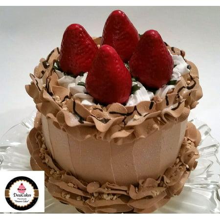 - Fake Cake Chocolate Strawberry Mousse Cake 6