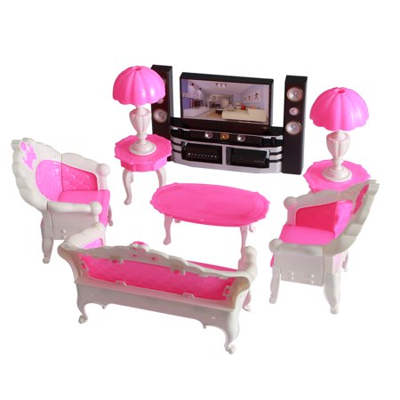 Dolls Accessories Pretend Play Furniture Set Toys for Dolls as Xmas Gifts for Kids Style:living room - Toys For Kids For Christmas