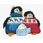 """Friendly Family Counted Cross Stitch Kit, 6.25"""" x 5"""" 10 Count"""