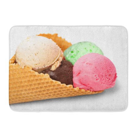 GODPOK Pink Calorie Brown Dessert Ice Cream White Green Creamy Chocolate Rug Doormat Bath Mat 23.6x15.7 inch