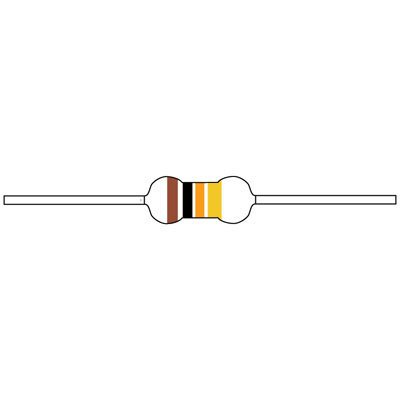 Resistor Carbon Film 110 Ohm 1/4 Watt 5% (Bag of 100), Technology : CARBON FILM By JAMECO VALUEPRO Ohm 1/4 Watt Carbon Film