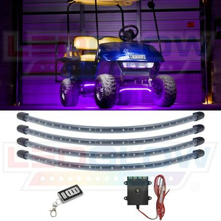 LEDGlow Purple LED Golf Cart Underbody Underglow Light (Underbody Led Kits)