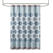 Mainstays Mink Medallion Velvet Shower Curtain