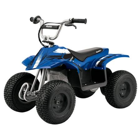 - Razor Kids Electric Off Road Mini Dirt Quad Bike 4 Wheeler ATV 24 Volt, Blue