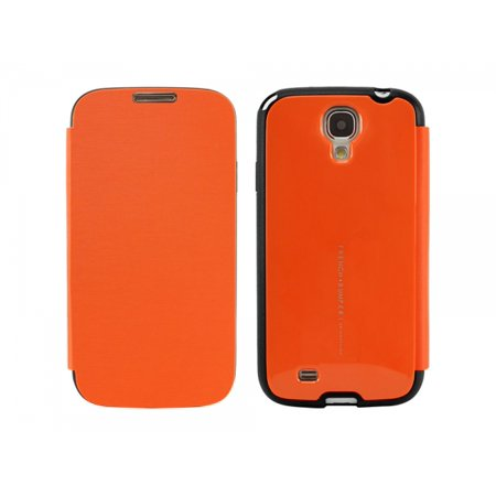 Cellet Arium French Bumper Flip Cover Case for Samsung Galaxy S4 Amber (Case Orange Accessory)
