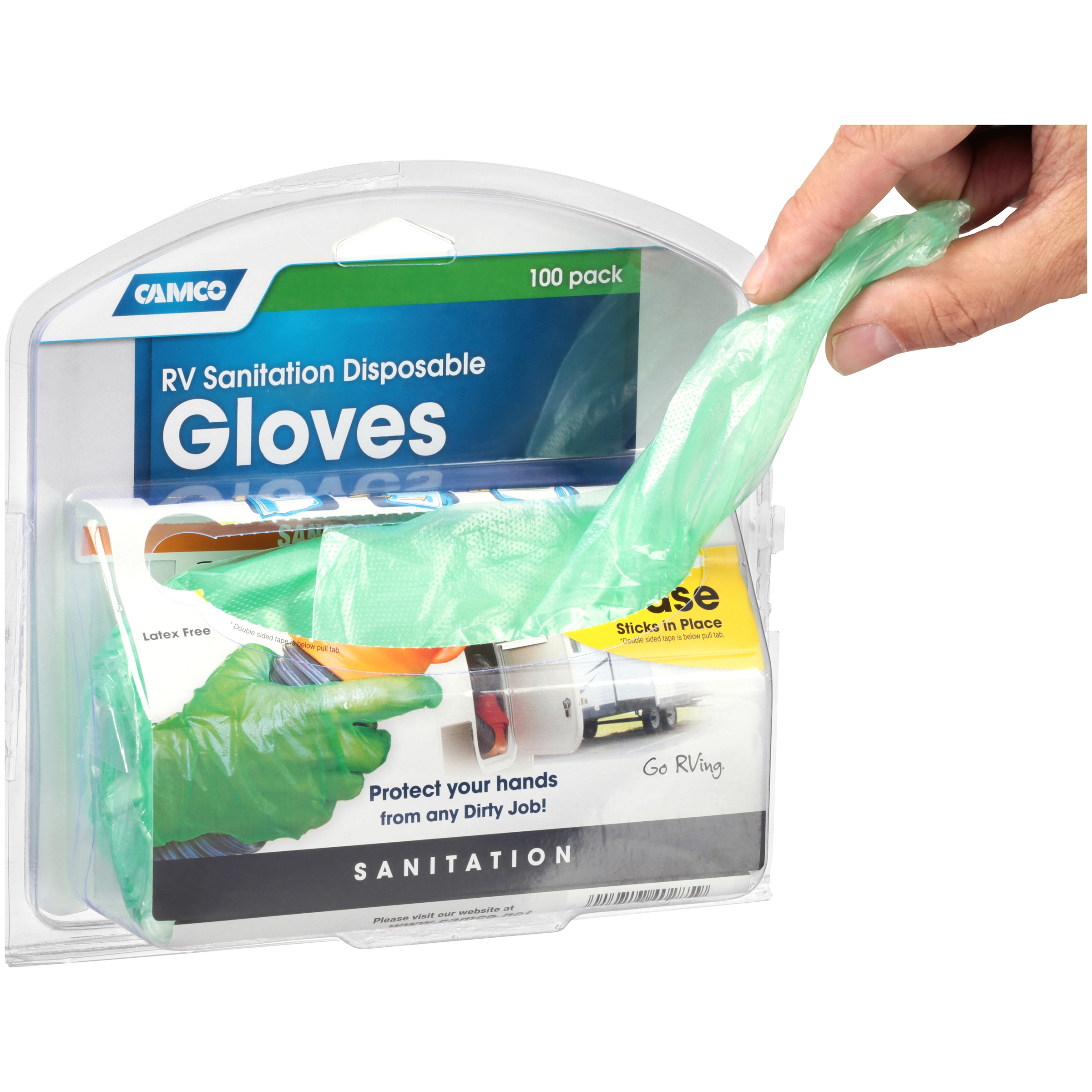 Camco RV Sanitation Disposable Gloves, 100ct