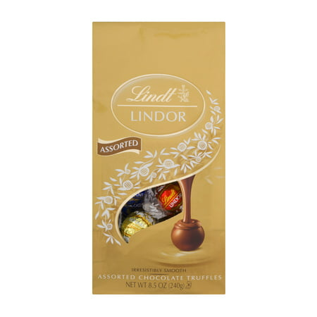 Lindt Lindor Assorted Chocolate Truffles, 8.5 (Dark Lindor Truffles)